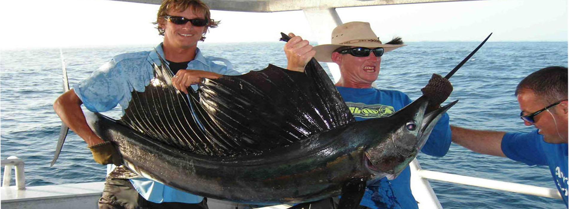 Fishing Rowley Shoals sailfish Karma IV TAO and gang