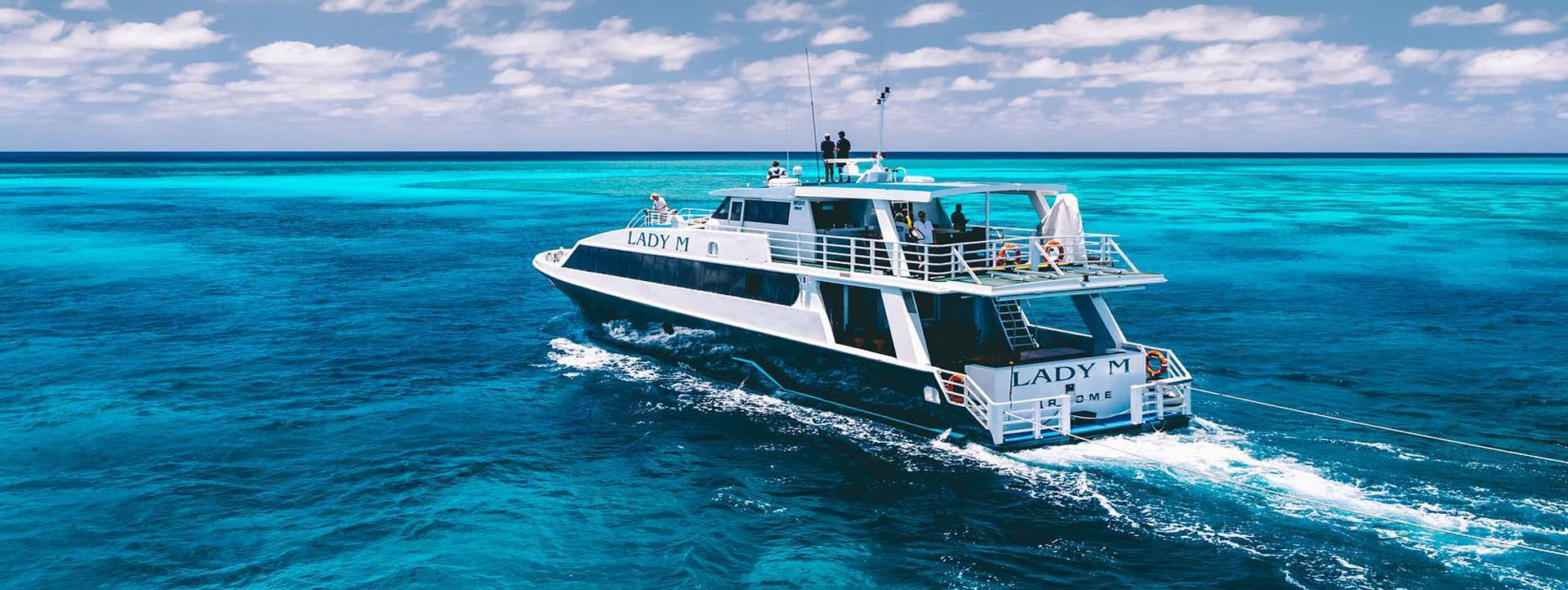 LADY M Rowley Shoals cruise blue lagoons