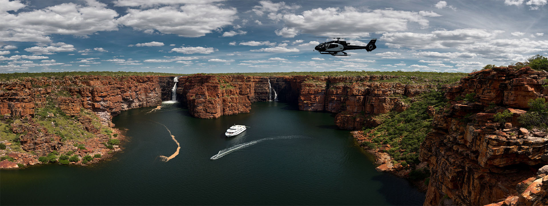 TRUE NORTH Mitchell Plateau helicopter ride