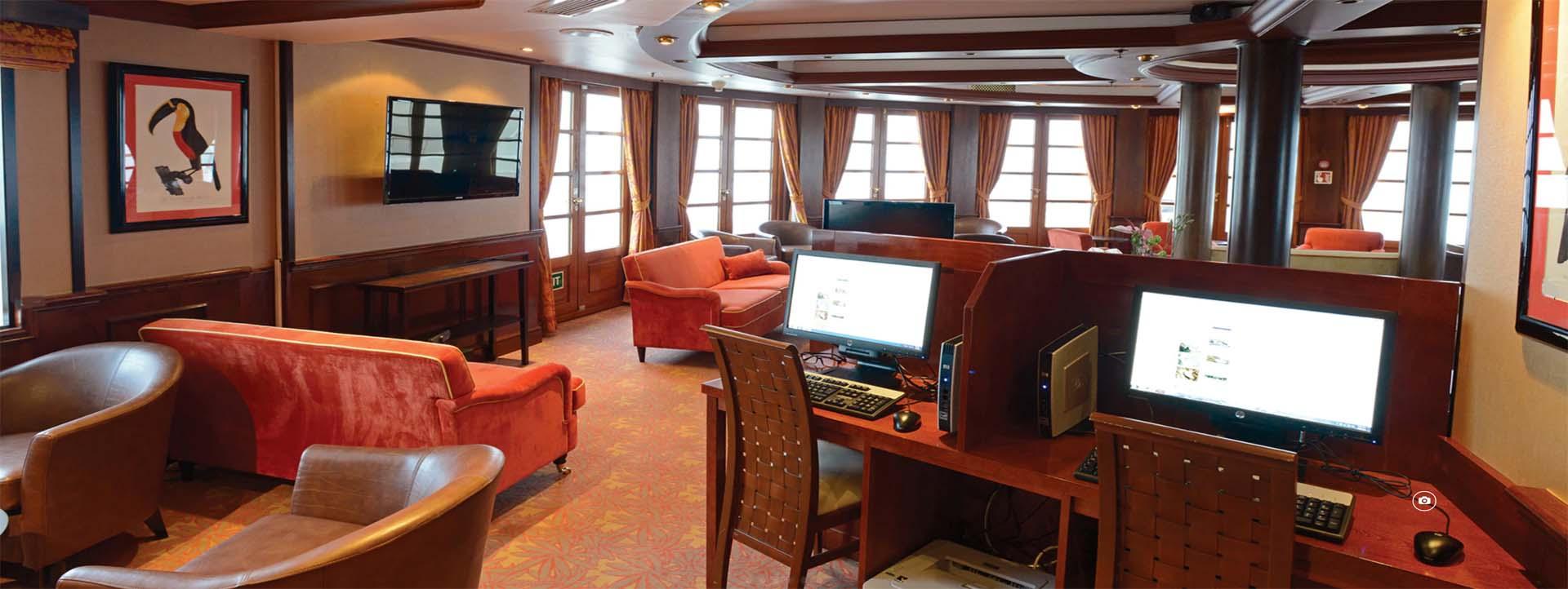 CALEDONIAN SKY computer lounge
