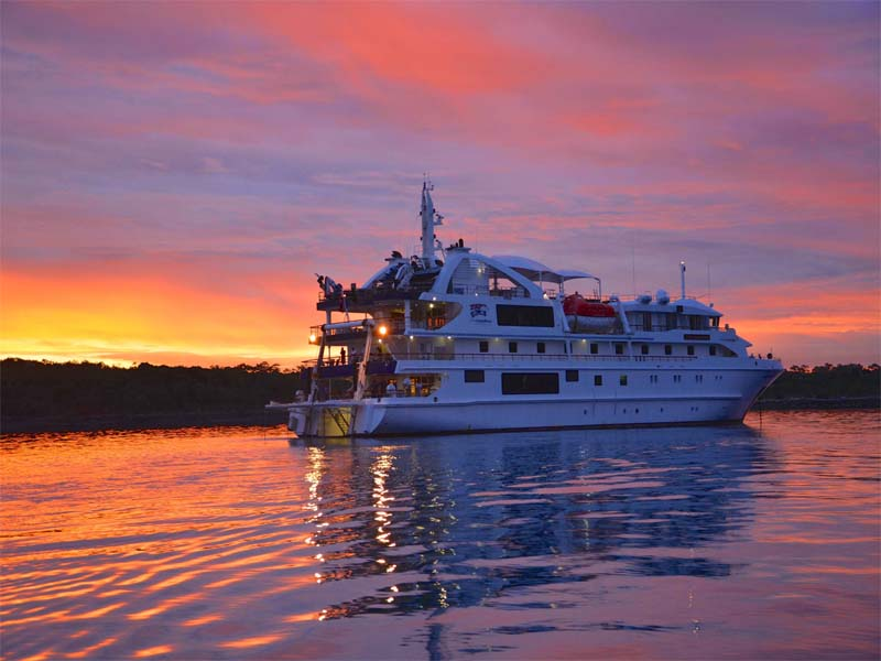CORAL ADVENTURER Kimberley cruises dusk