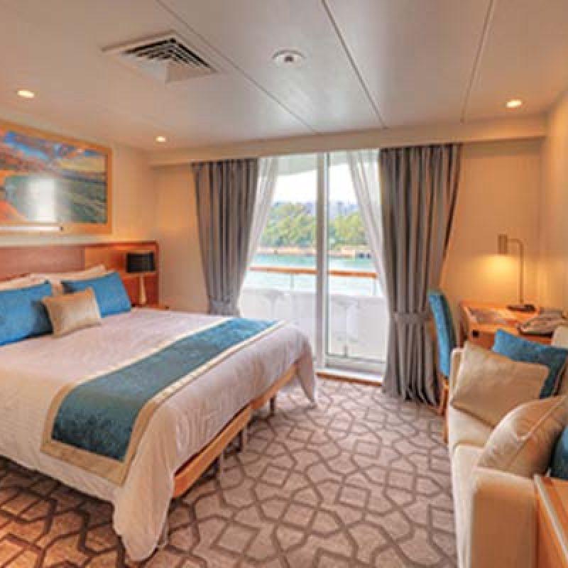 CORAL DISCOVERER Bridge deck balcony stateroom cabin