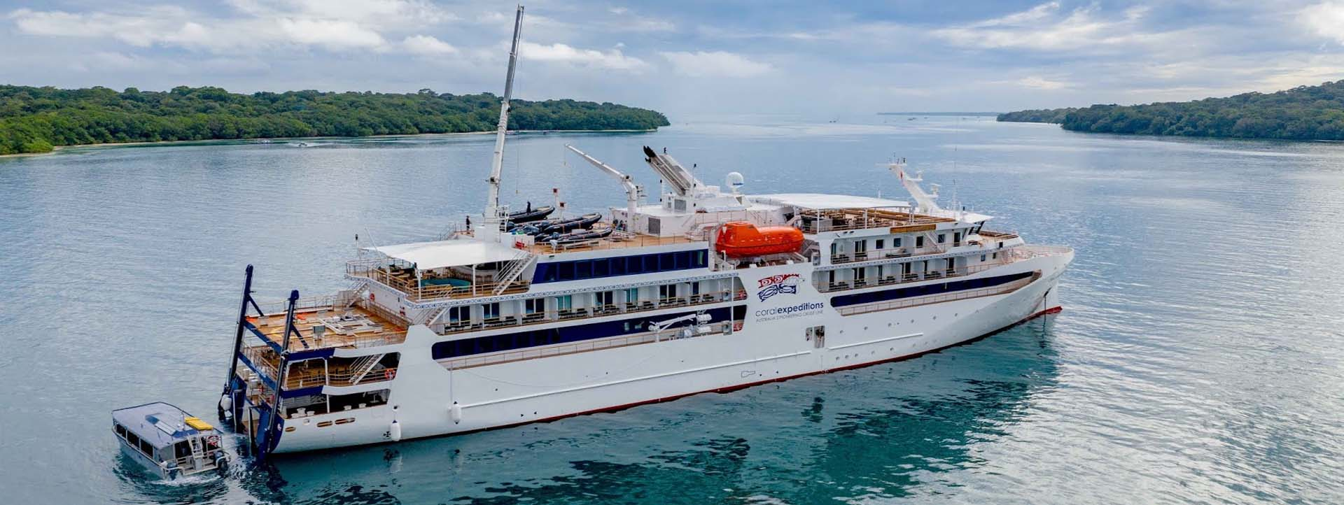 CORAL GEOGRAPHER Kimberley cruises side aerial