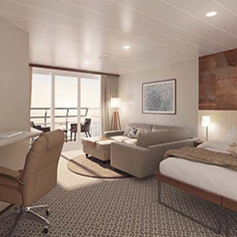 CORAL GEOGRAPHER bridge deck balcony suite