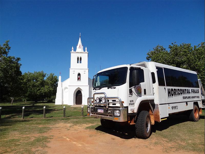 HORIZONTAL FALLS trucks church image