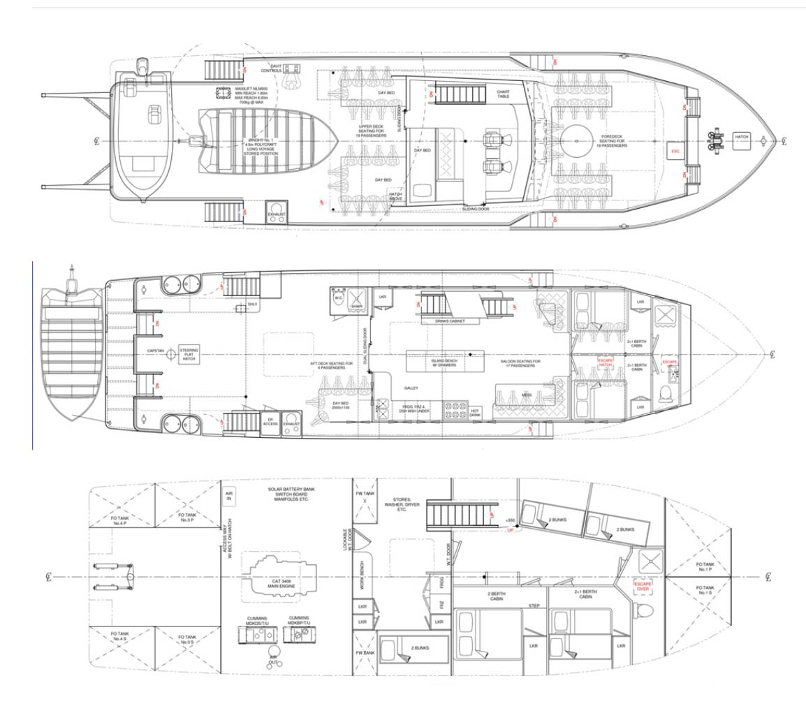 KIMBERLEY PEARL deck plans full size