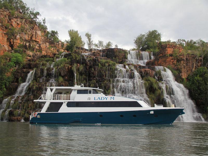 LADY M Kimberley cruise Kings Cascade side profile