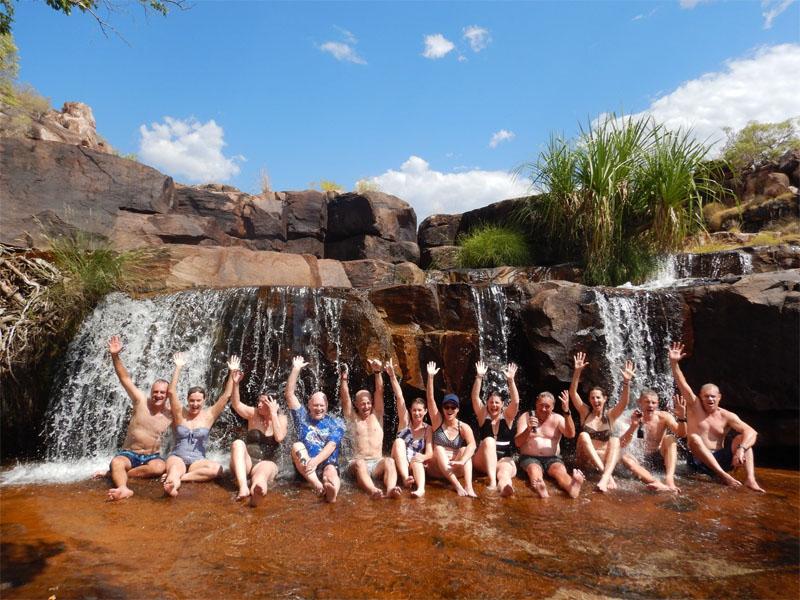 LADY M Kimberley cruise water hole swim group