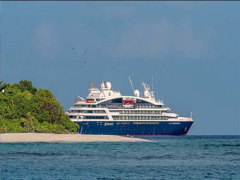 LE BELLOT cruise ship island sand ocean