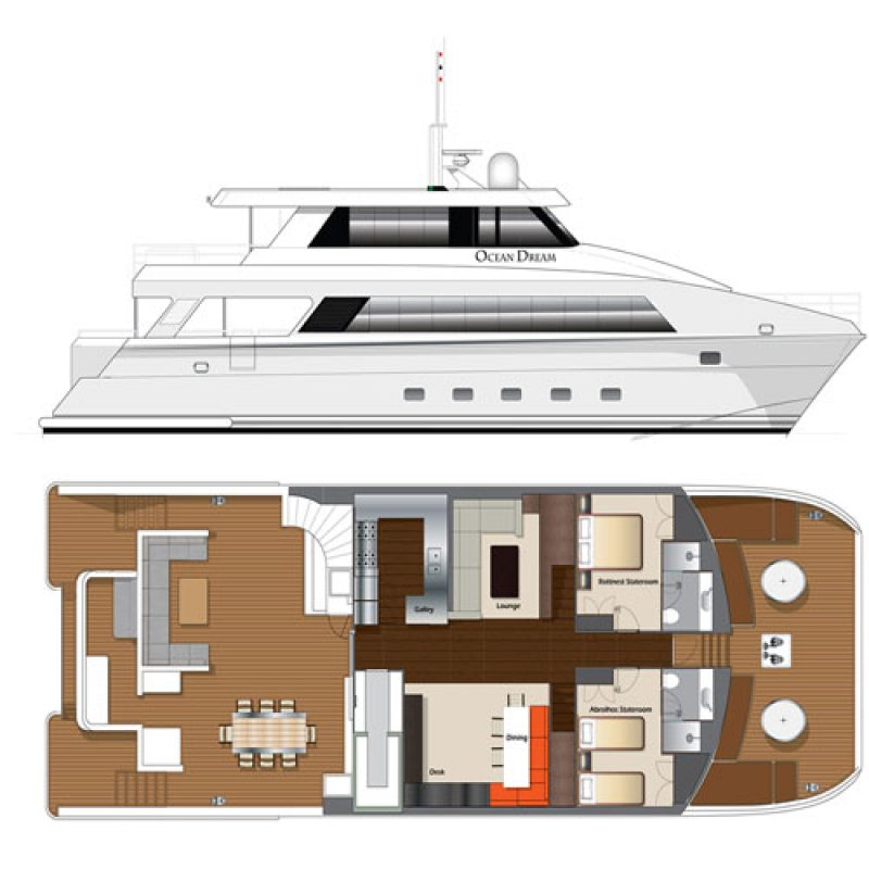 OCEAN DREAM Deck plans box
