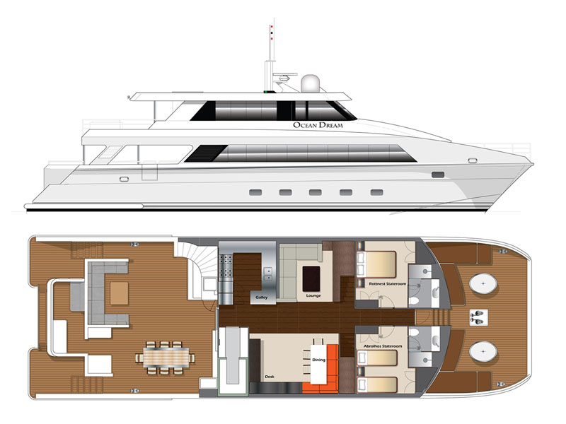 OCEAN DREAM Main Deck deck plan