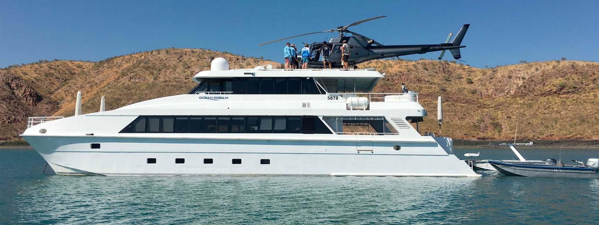 OCEAN DREAM helicopter Kimberley cruises