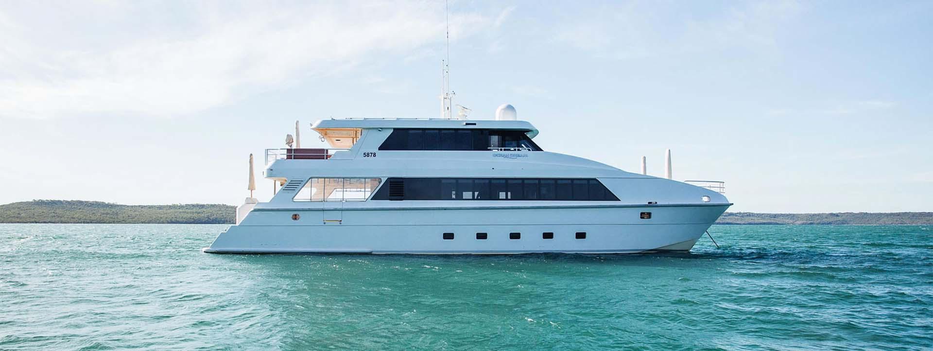 OCEAN-DREAM-side-profile-on-water-charters-WA