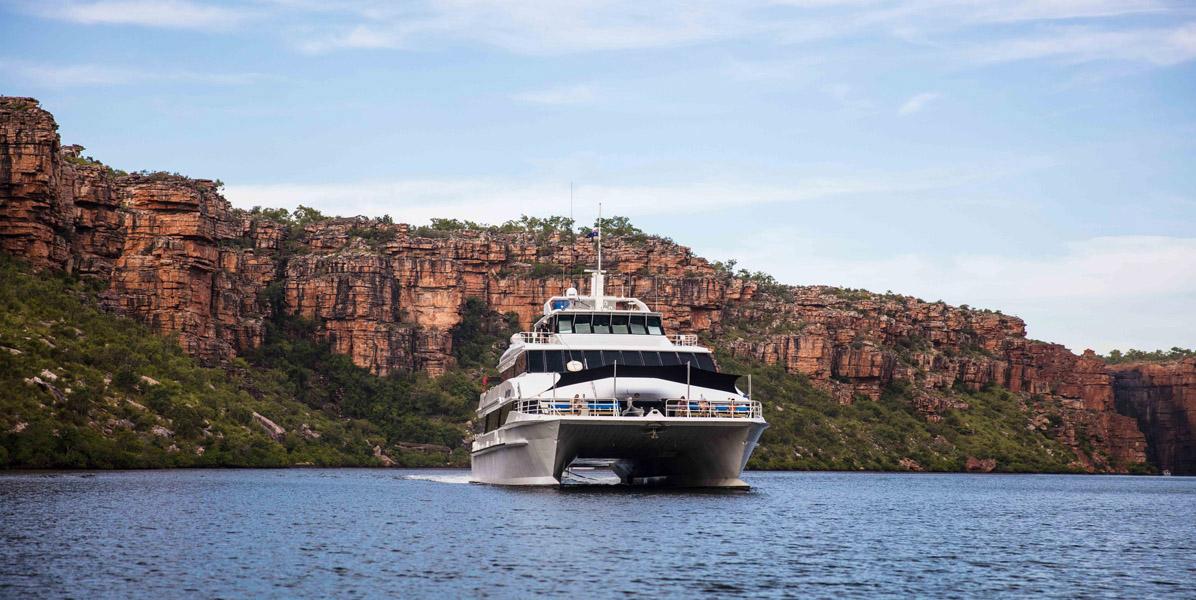 REEF PRINCE Kimberley cruise bow view