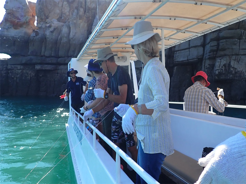 REEF PRINCE Kimberley cruise fishing hand lines