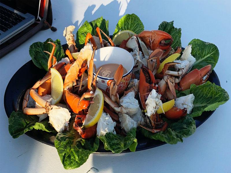 REEF PRINCE Mud Crab platter Kimberley cruises