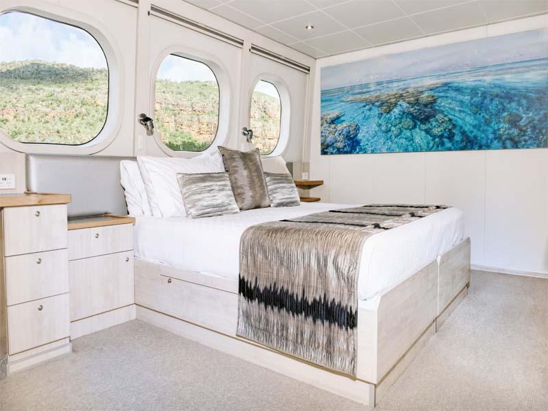 TRUE NORTH Kimberley cruise Explorer cabin views