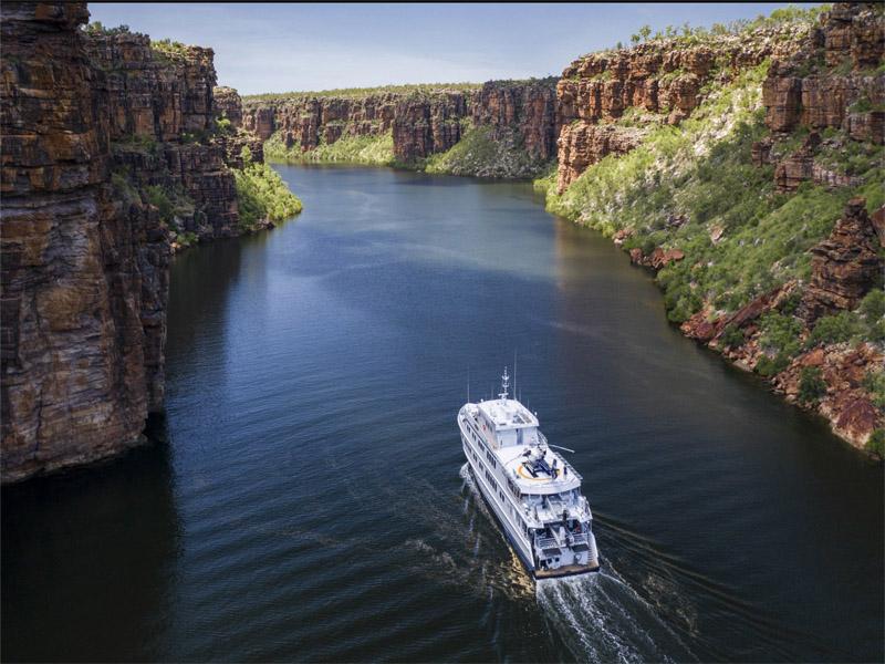 TRUE NORTH Kimberley cruise up river
