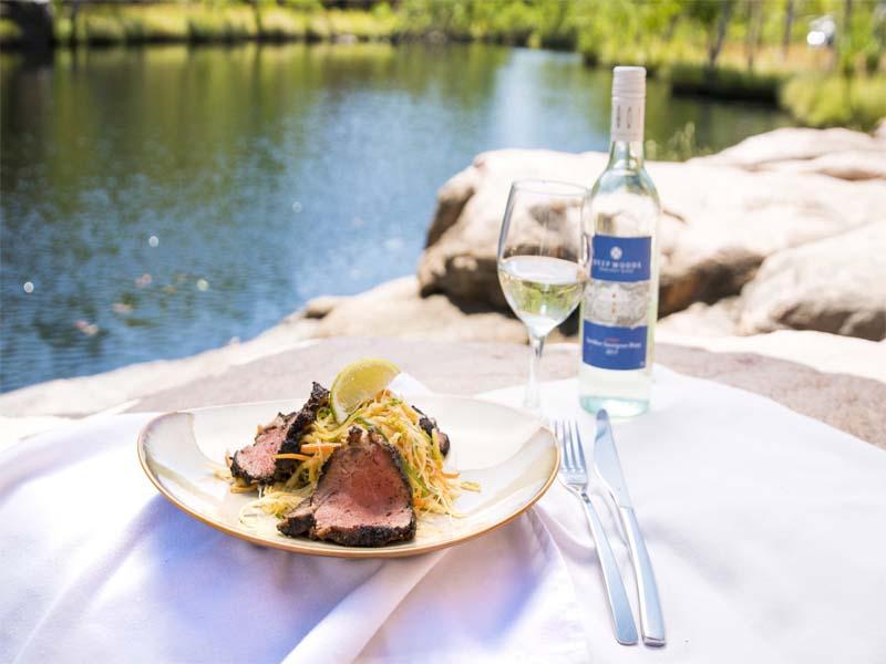 TRUE NORTH Kimberley cruises fine dining plate