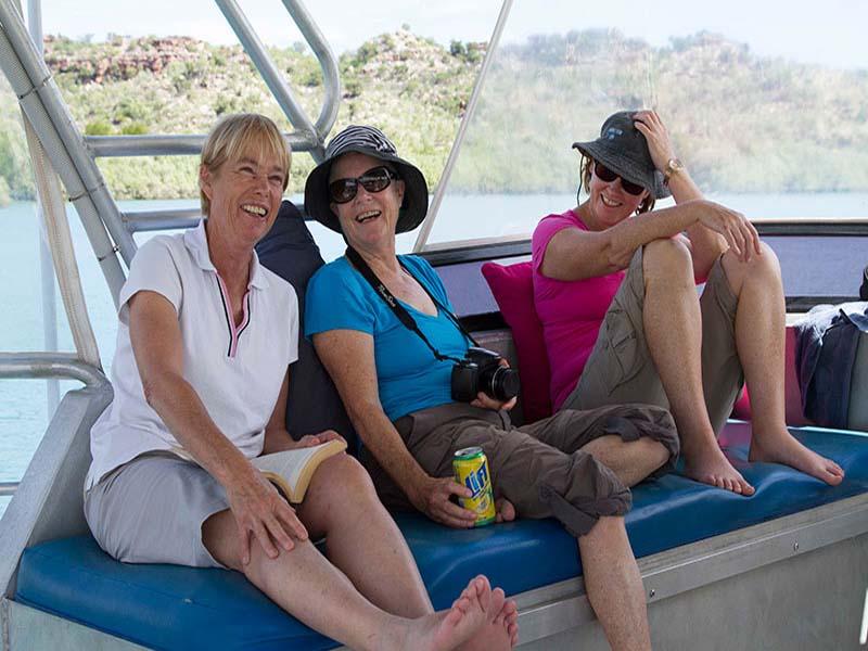 KIMBERLEY XPLORER people on cruise