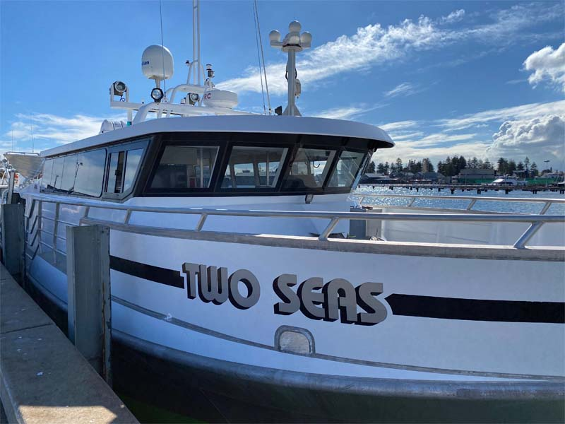 TWO SEAS boat signage