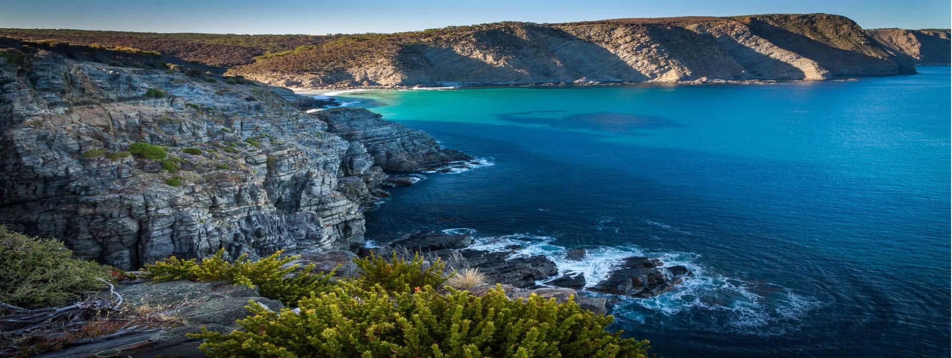 CORAL ADVENTURER Wild Island Walks Itinerary South Australia ocean cliffs