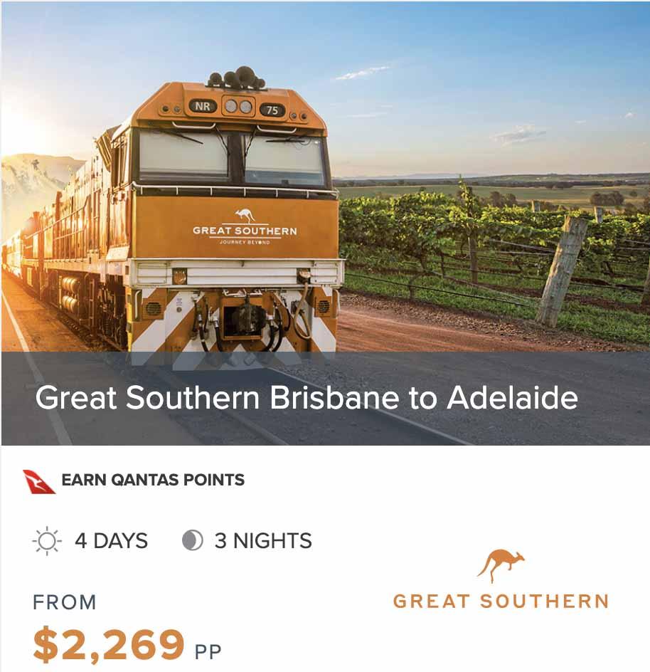 BRISBANE to ADELAIDE GSR prices dates