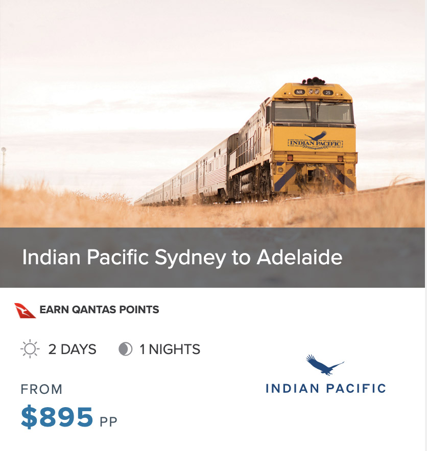 INDIAN PACIFIC SYD to ADL prices 2022 box