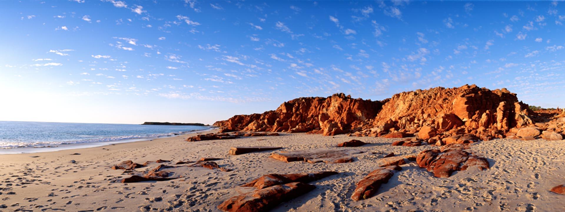 CAPE LEVEQUE TOURS red rocks ocean